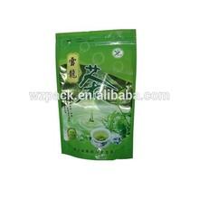 aluminum foil plastic stand up zipper tea packaging pouches