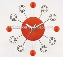 promotional wall clock novel 20cm ball design plastic wall clock