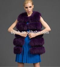 high quality whole fox fur 2014 fashion vest for woman