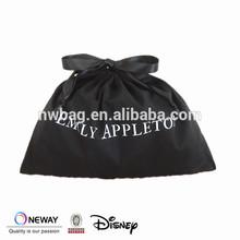 2015 Shoe Dust Cover,Cotton Drawstring Bag,Cotton Drawstring Black Dust Bag