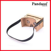 Assembling mobile Virtual Reality Cardboard 3d glass