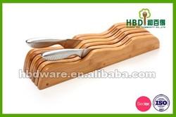 Bamboo wood eco-friendly kitchen knife block,knife holder wholesale