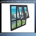 encargo de la ventana modelo de estilo occidental de aluminio con doble ventana colgado y aluminio toldo ventana