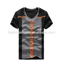 bulk custom cotton men white t shirt wholesale 2015 lateast style Cotton T shirt v collar t shirt