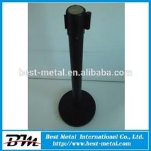 Classic black security post, tension line barrier, queue barrier pole