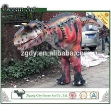 Amusement park life size realistic walking dinosaur puppet