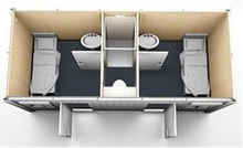 Hot Designs 10 FT or 40 Feet or Any Size Flat Pack Shipping Homes Container Apartment