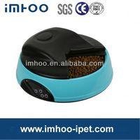 Hot 4 Meal LCD Automatic Pet Feeder solar light bird feeder