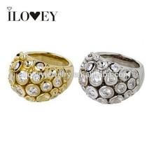New handmade female party cz diamond brass rings