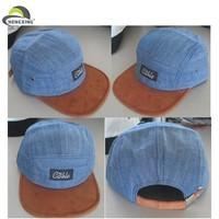 Wholesale custom 5 panel hats/suede 5 panel hat/denim 5 panel hat