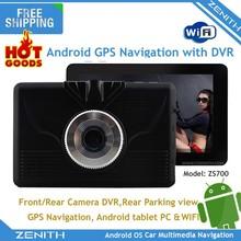 Nuevo diseño de 5 pulgadas capacitiva android HD de doble cámara de visión wifi