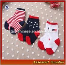 China Socks Factory 100% Cotton Flag Baby Socks Gift/Best Kids Socks/Custom Socks For Baby--AMY2015086