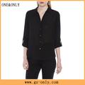 mulheres moda blusa casual com as costas abertas