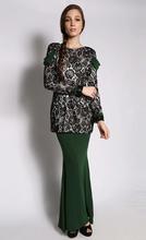 2015 new fashion Custom fashion model baju kurung modern long woman kebaya kurung