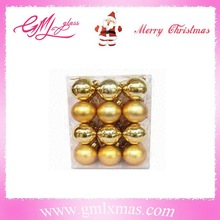 boxed hollow christmas balls ornament,yellow christmas ball transparent,shiny gold christmas ornament plastic balls