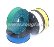 Paper and plastic spool twist tie for KYOWA packing machine