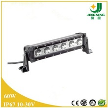off road led driving light bar 60w auto led work light, IP67 cre e led offroad bar with CE, Rohs