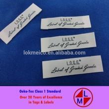 Oeko-tex Class1 Organic Cotton Printed Brand Label