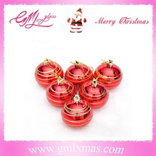 wholesale high quality X'mas decoration re shiny glitter plastic Christmas ball shatterproof ball