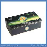 rectangular tea tin packaging box