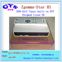Enigma2 Linux OS Zgemma Star H1 HD satellite tv receiver with internet connection iwth fast shipping