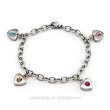 4 Stone Family of Hearts Custom Birthstone Bracelet