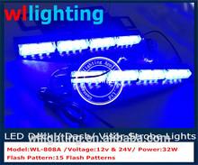 visor led blue light/High Intensity LED Visor Strobe Flash Emergency Warning lights visor L