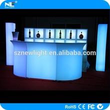 latest design high brightness LED Plastic bar table / LED clear and shine furniture