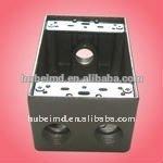 Aluminum junction box with 2 inch depth, 1B50-4,four holes, Aluminum