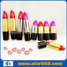 4gb 8gb 16gb 32gb lipstick flash drive usb, female flash drive usb lipstick