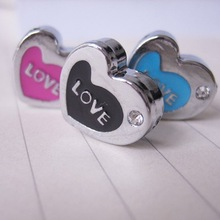 trending hot products rhinestone heart slide charms 8mm heart slider