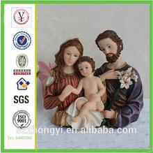factory custom-made high quality resin holy family of catholic religious souvenirs