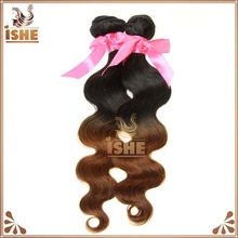 T1B/30 Two Tone Colored Indian Hair Weaving Virgin Ombre Hair Weaves Cheap Body Wave Ombre Hair Extensions