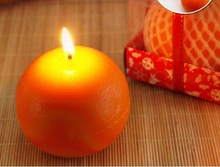 fashionable special design wax fruit candle for party
