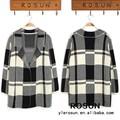 venta al por mayor francés profesional de las mujeres a cuadros patrón suéters modelos para las señoras