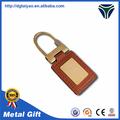 en alliage de zinc et de cuir rétractable key chain fabriqués en chine