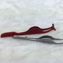 Hot Sale Stainless Steel Tweezers with Bent Nose,Eyebrow Tweezers