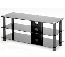 new design luxury tempered glass Hot sales high glossy lcd tv stand