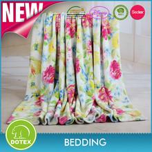 2015 New Design Beautiful Printed Coral Fleece Blanket,Flower Pattern Coral Fleece Fabric,Flower Printed Coral Fleece Blanket