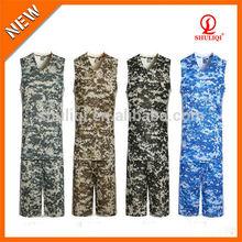 Camouflage basketball jersey new style basketball jersey uniform