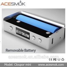 Alibaba China supplier wholesale original cloupor mini 30 watt box mod cloupor mini dna 30w box mod