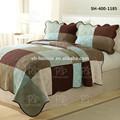 100% algodón de lujo ropa de cama edredón / edredones ropa de cama colcha acolchada, Impreso, Juego de tapas de cama Shanghai importación