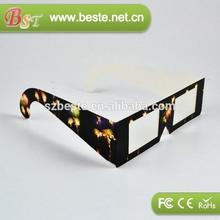 3D Gift!! disposable 3d cardboard custom logo diffraction 3d glasses