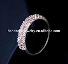 hotsale alibaba mirco pave zircon ring bridal wedding jewelry rings