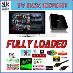 cheap hot sale XBMC media player tv box MX android tv box smart tv box
