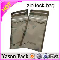 Yason mini aluminum foil grip seal bags with ziplock/zipper top small black foil plastic envelope diamond butterfly ziplock bag