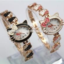 Hello Kitty gift watch cheap, charming girls watch& watches cat