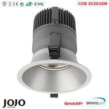 6 In 25w 3000k4000k5000k spot or wide degrees LED recessed downlight