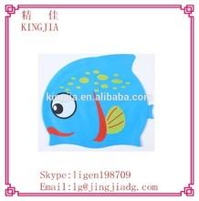 Funny Kids Cartoon Waterproof Silicone Swim Cap