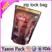 Yason three layers plastic bag fruits storage zip bags co extruded polyethylene plastic bag